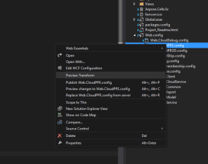 preview config context menu