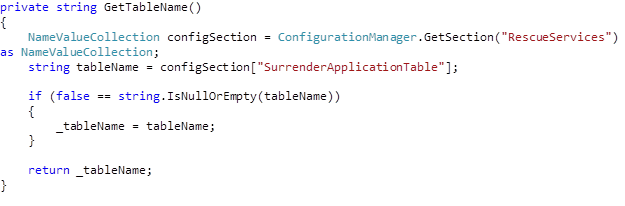 custom .net config sections code snippet