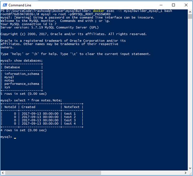 Building a MySQL database in Docker – Guerilla Programmer